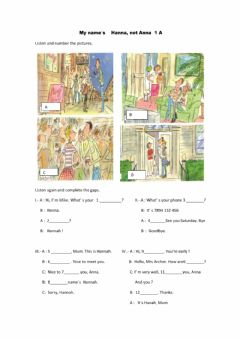 Interactive worksheet English File Elementary 3r Edition. 1A