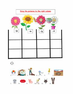 Interactive worksheet Family words with -i-