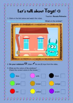 Interactive worksheet Let's Talk about Toys