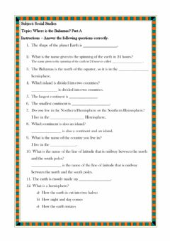 Interactive worksheet Where is the Bahamas? A