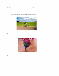 Interactive worksheet Movimiento