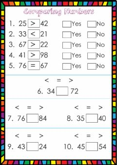 Ficha interactiva Comparing numbers