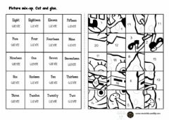 Interactive worksheet 3.1 numbers 1-20 puzzle drag and drop