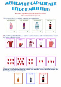 Interactive worksheet Medidas de Capacidade