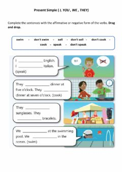 Interactive worksheet Present simple  ( i, you , we , they)