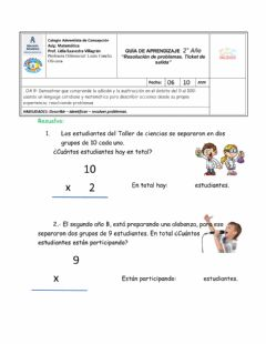 Interactive worksheet Ticket de salida 6 de octubre