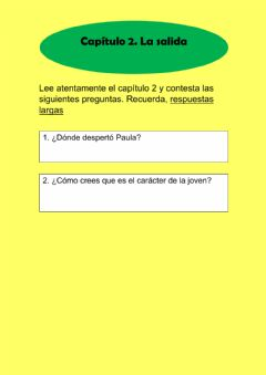 Interactive worksheet Del laberinto al 30. Preguntas cap 2 adaptat