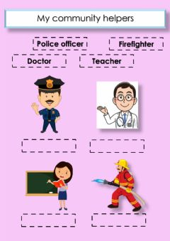 Interactive worksheet My community helpers