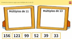 Interactive worksheet Múltiplos 2