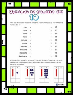 Interactive worksheet Familia del 10