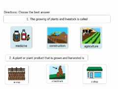 Ficha interactiva Farmer Vocabulary