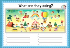 Interactive worksheet Describing a picture. Easy