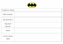 Interactive worksheet Letter from Batman