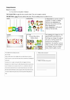 Interactive worksheet Setting and Characters