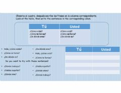 Interactive worksheet Tú usted