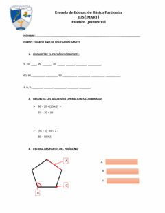 Interactive worksheet Examen
