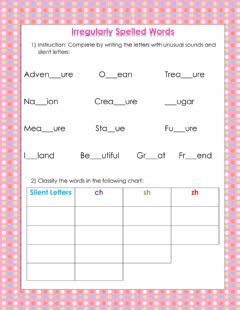Interactive worksheet Iregularly spelled words