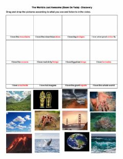 Interactive worksheet The World is Just Awesome