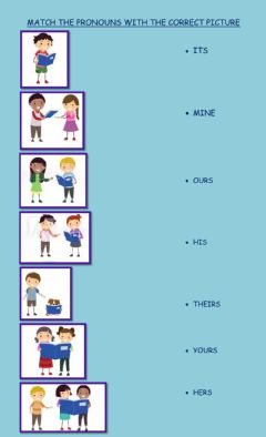 Ficha interactiva Possessive pronouns