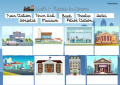 Interactive worksheet Places in town match