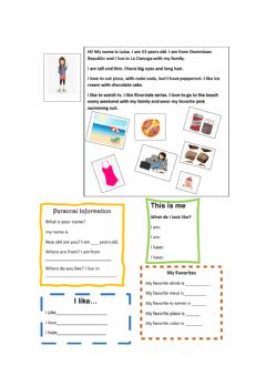Interactive worksheet This is me