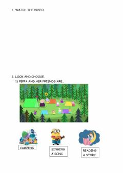Interactive worksheet Let's go camping!!!!