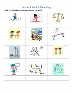Interactive worksheet Phonology Lesson 1 Book 2