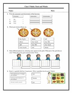 Interactive worksheet Part and whole