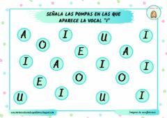 Interactive worksheet Discriminación visual vocal I