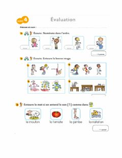 Interactive worksheet Évaluation