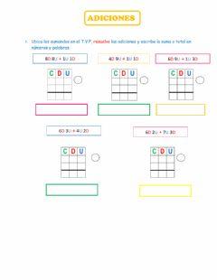 Interactive worksheet Adiciones