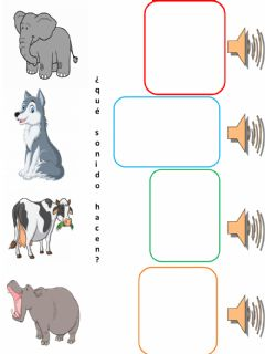 Interactive worksheet sonidos animales clases