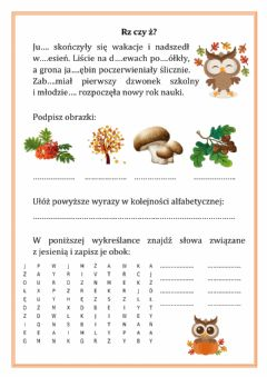 Interactive worksheet Jesień
