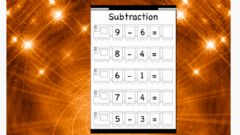 Ficha interactiva Subtraction