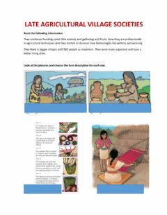 Interactive worksheet Late Agricultural Village Society