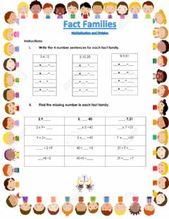 Interactive worksheet Fact FAmilies