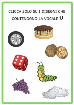 Interactive worksheet Vocale u