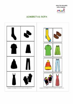 Interactive worksheet sombritas ropa