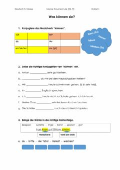 Interactive worksheet Modalverb können