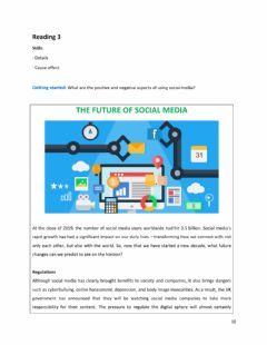 Interactive worksheet The Future of Social Media Reading 2 Unit 5