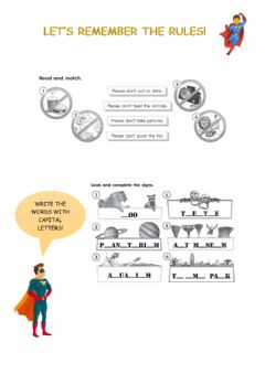 Interactive worksheet Rules and places
