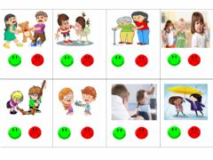 Interactive worksheet Good and bad actions