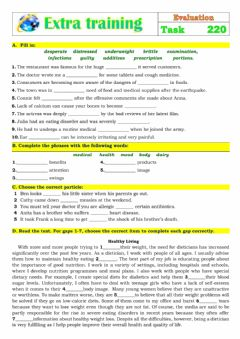 Interactive worksheet Extra Training 220