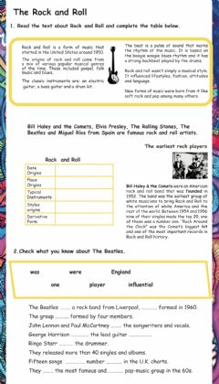 Interactive worksheet The Beatles- the band-