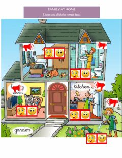 Ficha interactiva House,Family and Actions