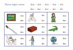 Interactive worksheet Silaba trabada DR