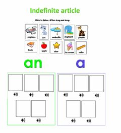 Interactive worksheet Indefinite article
