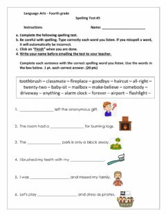 Interactive worksheet Compound Words