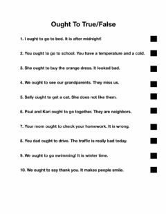 Interactive worksheet Ought To