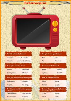 Interactive worksheet Barbantxo ipuina